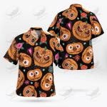 Halloween Creepy Pumpkin Button-up Shirt Hawaiian Shirt