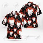 Halloween Creepy Clown Men Red White Black