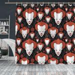 Crockcool Halloween Pumpkin Creepy Clown Shower Curtain
