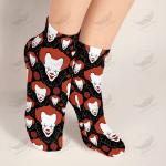 Crockcool Halloween Creepy Clown Short & Long Socks