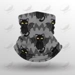 Crockcool Halloween Black Cats Funny Face Masks Bandana