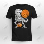 Halloween Boys Kids Dinosaur Skeleton T rex Scary Crockcool T-Shirt