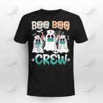 Halloween Nurse Booo Boo Crew Cute Ghost Crockcool T-shirt Hoodie