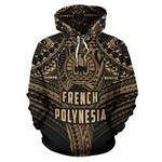French Polynesia Hoodie Polynesian Tattoo Pullover Hoodie