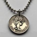 Fiji Handmade Jewelry - 1953 Fiji 6 Pence Coin Necklace