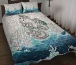 Maori Manaia The Blue Sea Quilt Bed Set, White K5 - rugbylife