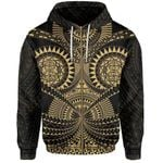 Polynesian Tattoo All Over Print Zip-Hoodie Gold TH5 - 1st New Zealand