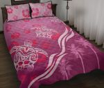 Pink Turtle Hibiscus Quilt Bed Set K5 - rugbylife