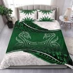 New Zealand Bedding Set Green Manaia Maori - Silver Fern Duvet Cover and Pillow Case TH5 - rugbylife.co