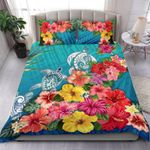 Three Turtle Polynesian Bedding Set Hibiscus Colorful TH5 - rugbylife.co