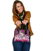 Maori Manaia The Blue Sea Shoulder Handbag, Pink K5 - 1st New Zealand