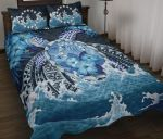 Cook Islands Polynesian Sea Turtle Hibiscus Quilt Bed Set K5 - rugbylife