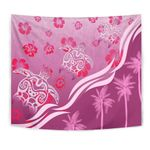 Pink Turtle Hibiscus Tapestry K5 - 1st New Zealand