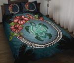 New Zealand Quilt Bed Set - Polynesian Ohana Turtle Hibiscus Mother Son A24 - rugbylife