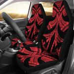 Samoan Tattoo Car Seat Covers Red TH4 - 1st rugbylife