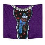 New Zealand Tui Bird Tapestry, Pohutukawa - Purple K4 - 1st New Zealand