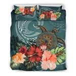 Turtle Polynesian Bedding Set Hibiscus Polynesian TH5 - rugbylife.co