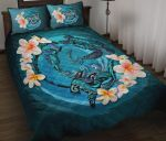 New Zealand Quilt Bed Set, Blue Plumeria Animal Turtle Tattoo A24 - rugbylife