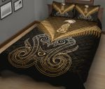 Maori Manaia New Zealand Quilt Bed Set Gold K4 - rugbylife