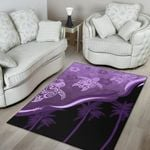 Purple Turtle Hibiscus Area Rug K5 - 1st New Zealand