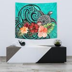 Turtle Tapestry Hibiscus Polynesian Turquoise TH5 - 1st New Zealand
