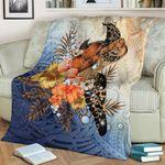 Polynesian Turtle Hibiscus Sea Shell Blanket K5 - 1st New Zealand
