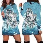 Maori Manaia The Blue Sea Hoodie Dress K5 - 1st New Zealand