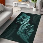 Polynesian Area Rug Turquoise TH5 - 1st New Zealand