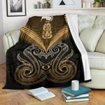 Maori Manaia New Zealand Premium Blanket Gold K4 - 1st New Zealand