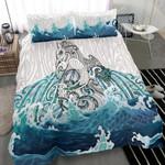 Maori Manaia The Blue Sea Bedding Set, White K5 - rugbylife.co