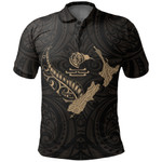 New Zealand Heart Polo Shirt - Map Kiwi mix Silver Fern Gold K4 - 1st New Zealand