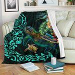 Tiki Polynesian Premium Blanket Turtle Hibiscus K4 - 1st New Zealand