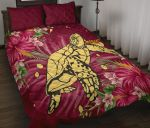 New Zealand Quilt Bed Set - Turtle Polynesian Hibiscus A24 - rugbylife