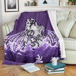 Maori Manaia The Blue Sea Premium Blanket, Purple K5 - 1st New Zealand