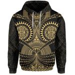 Polynesian Tattoo All Over Print Hoodie Gold TH5 - 1st New Zealand