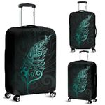 Light Silver Fern Luggage Cover - Turquoise K5 - 1st New Zealand