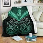 Maori Manaia New Zealand Premium Blanket Turquoise K4 - 1st New Zealand