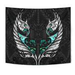 New Zealand Tapestry Manaia Paua Fern Wing - White K4 - 1st New Zealand