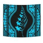 New Zealand Haka Fern Tapestry Blue K4