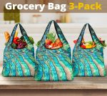 New Zealand Paua Shell Grocery Bag 3-Pack 05 K5 - 1st New Zealand