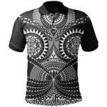 Polynesian Tattoo Polo Shirt White TH5 - 1st New Zealand