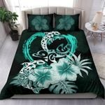Polynesian Bedding Set I Love Dophins Duvet Cover Hibiscus TH5 - rugbylife.co