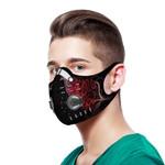 Light Silver Fern New Zealand Sport Mask - Red K5 - 1st New Zealand