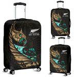 New Zealand Luggage Cover Manaia Paua Fern Wing - Gold K4 - 1st New Zealand