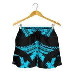 Samoan Tattoo All Over Print Women's Shorts Blue TH4 - 1st New Zealand