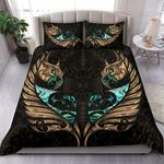 New Zealand Bedding Set Manaia Paua Fern Wing - Gold K4 - rugbylife.co