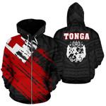 Tonga Flag Coat Of Arms Polynesian Zip-up Hoodie