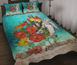 Tonga Quilt Bed Set - Ocean Turtle Hibiscus   rugbylife