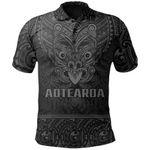New Zealand Rugby Polo Shirt Maori Haka - Silver Fern (Gray) TH6
