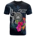 American Samoa Polynesian T-shirt - Tropical Flower - BN12